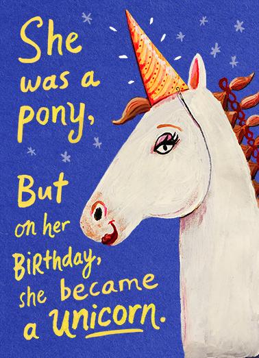 Birthday Unicorn Ecard Cover