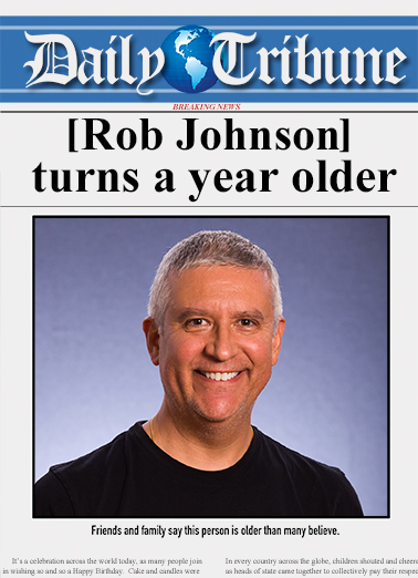 Funny Birthday Card Daily Tribune From Cardfool
