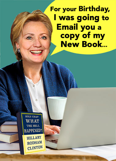 Funny Birthday Card Hillary Book From Cardfool